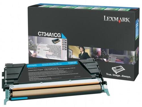 Lexmark Toner Kit cyaan return program - 6000 pagina's - C734A1CG