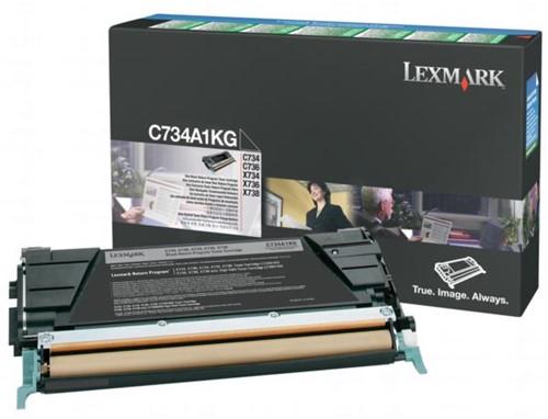 Lexmark Toner Kit zwart return program - 8000 pagina's - C734A1KG
