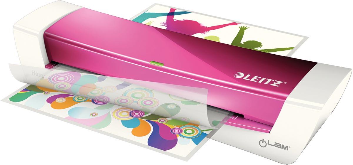 Leitz iLAM Home Office lamineermachine voor ft A4, roze