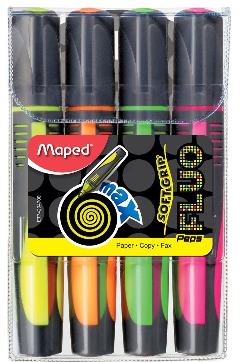 Maped markeerstft Fluo Peps Max set van 4
