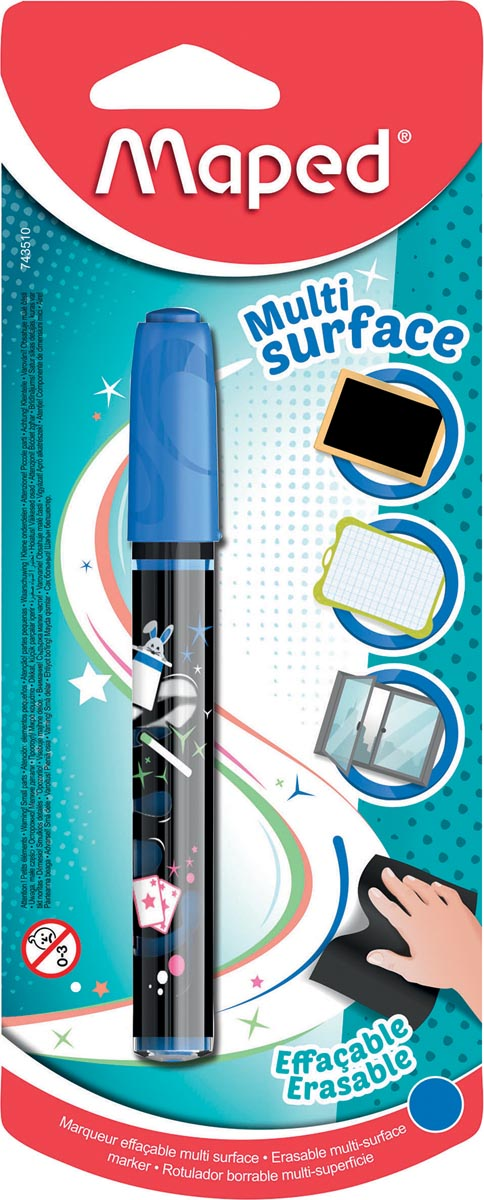 Maped krijtmarker, 1 stuk op blister, blauw