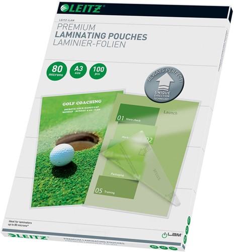 Leitz Ilam lamineerhoes ft A3, 160 micron (2 x 80 micron), pak van 100 stuks