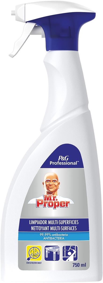 Mr. Proper allesreiniger 3-in-1, antibacteriëel, flacon van 750 ml