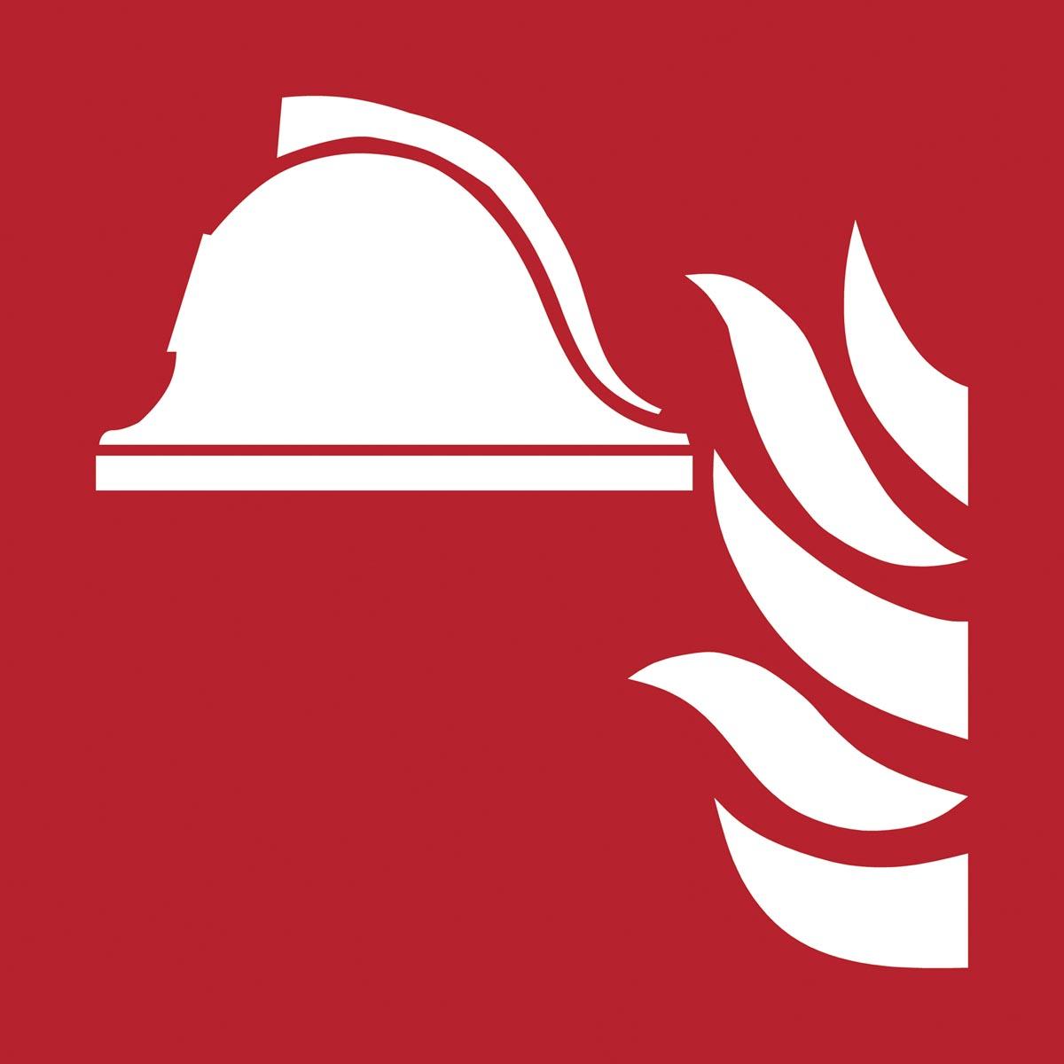 Tarifold brandveiligheidsbord uit PP, brandbestrijdingsmiddelen, ft 20 x 20 cm