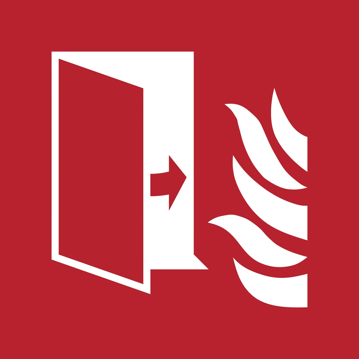 Tarifold brandveiligheidsbord uit PP, branddeur, ft 20 x 20 cm