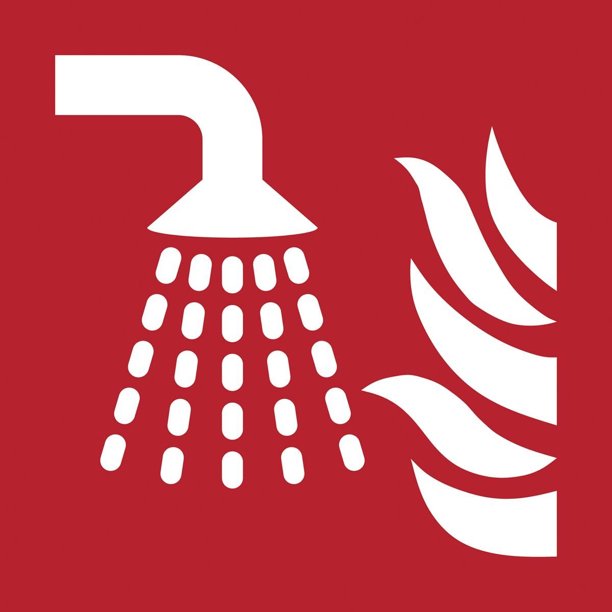 Tarifold brandveiligheidsbord uit PP, sprinkler, ft 20 x 20 cm