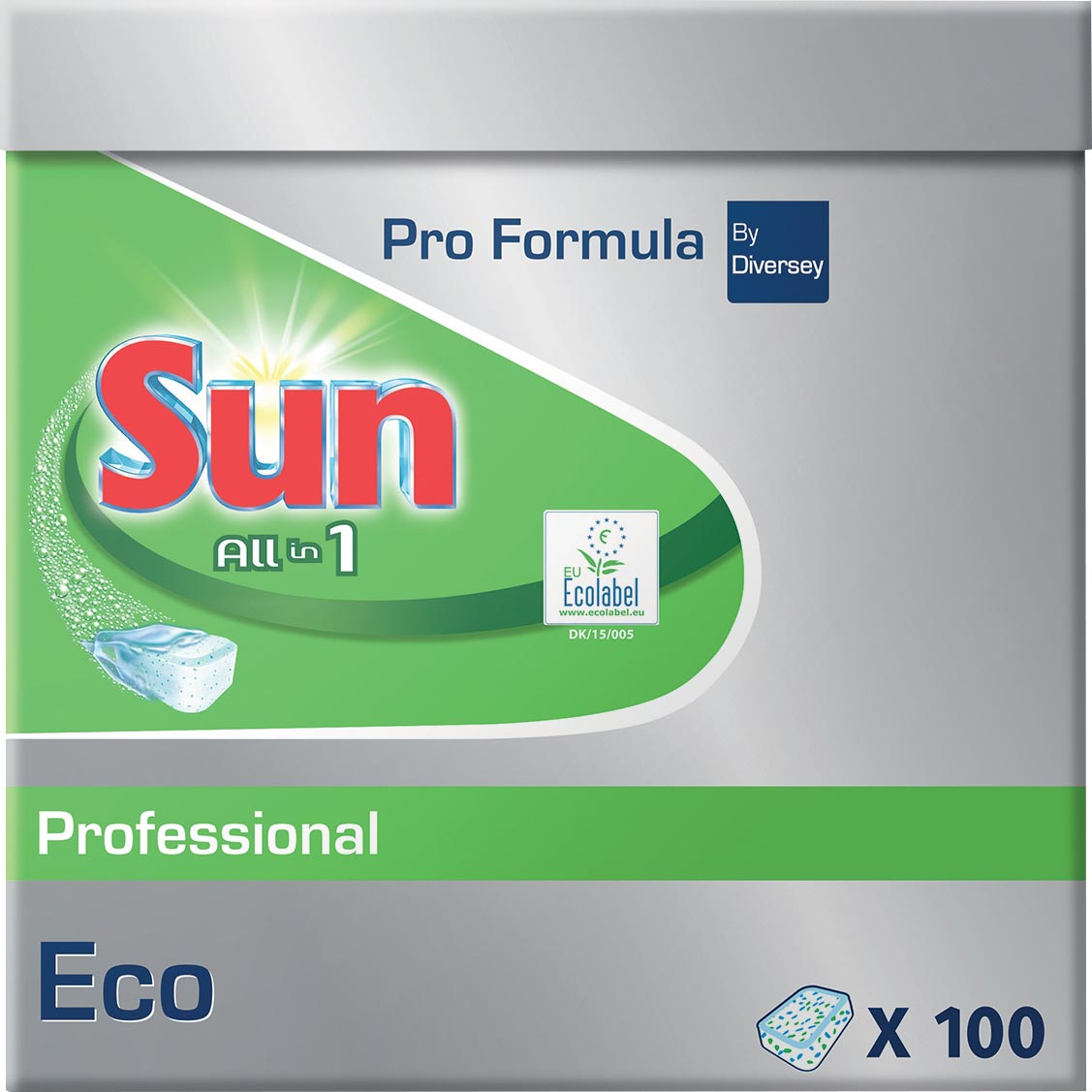 Sun Vaatwasmiddelen-tablets All in one Eco 100 Stuks