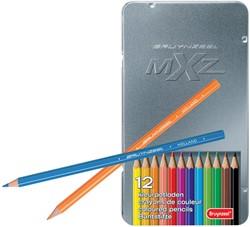 Bruynzeel Kleurpotlood mXz, doos met 12 potloden