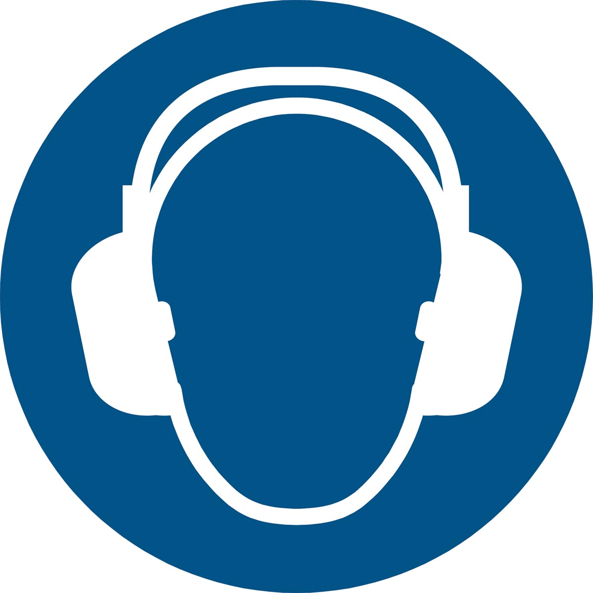 Tarifold gebodsbord uit PP, gehoorbescherming verplicht, diameter 20 cm