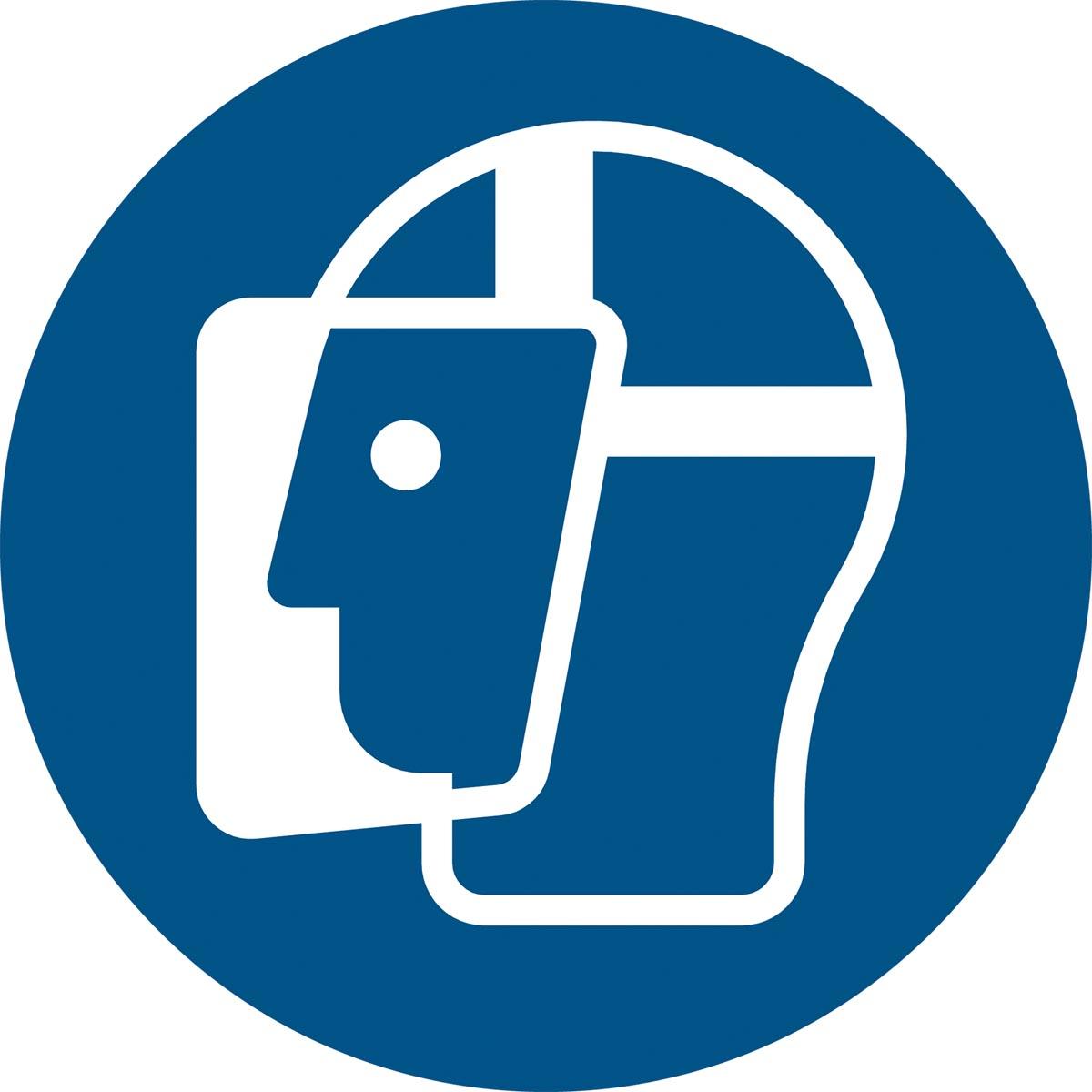 Tarifold gebodsbord uit PP, gezichtsbescherming verplicht, diameter 20 cm