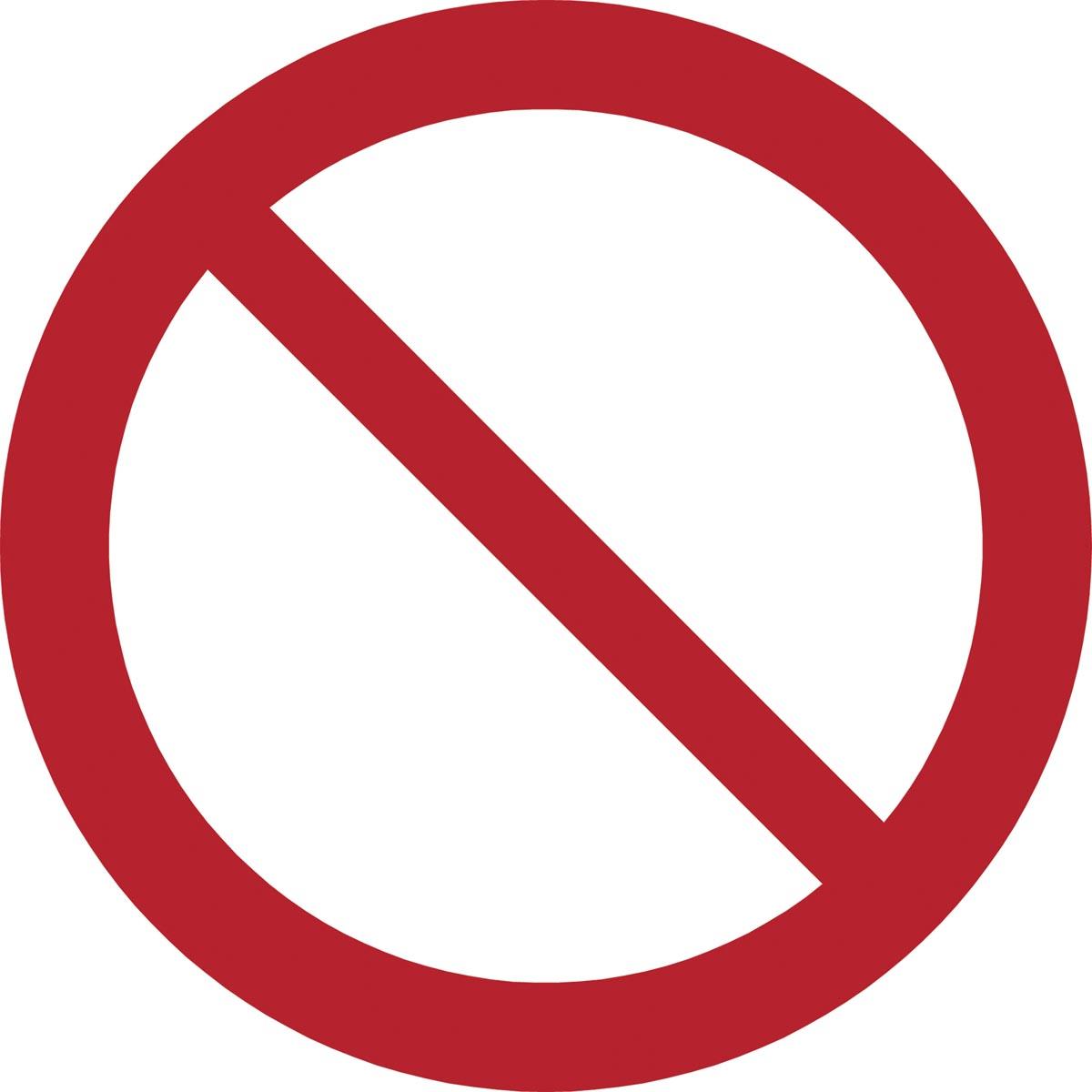 Tarifold verbodsbord uit PP, algemeen verbod, diameter 20 cm