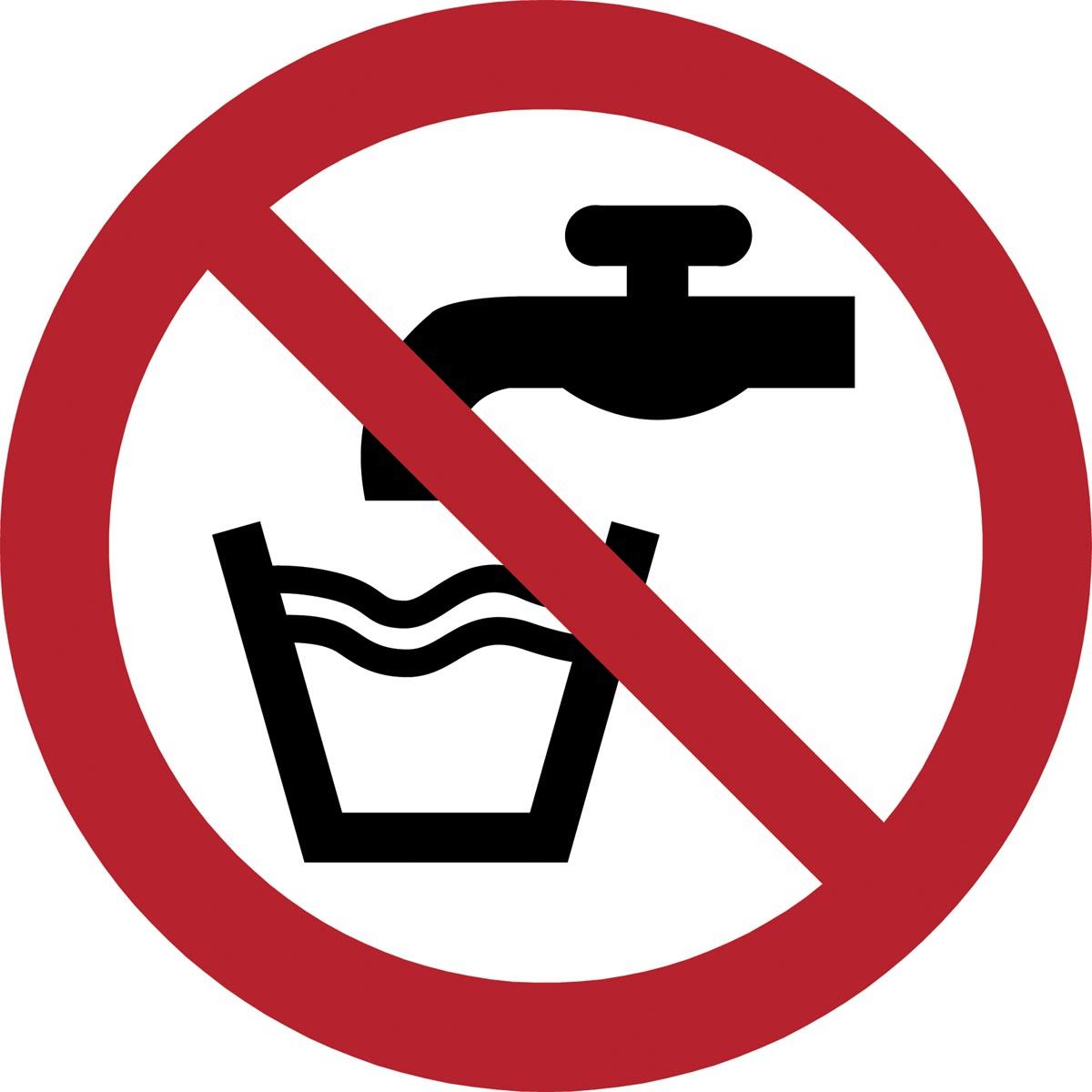 Tarifold verbodsbord uit PP, geen drinkwater, diameter 20 cm
