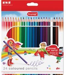 Bruynzeel kleurpotlood Basic Colour, kartonnen doos met 24 potloden