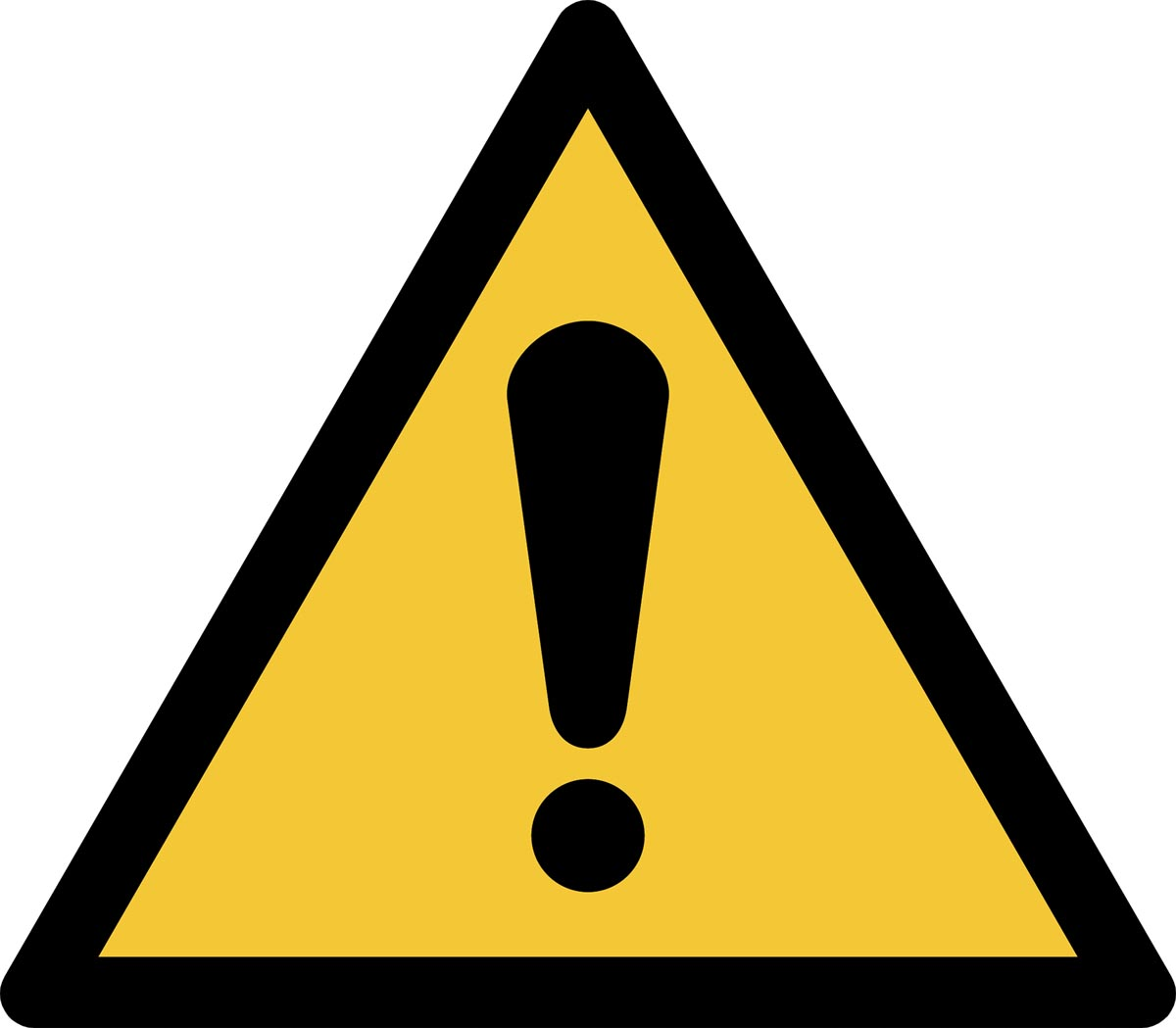Tarifold waarschuwingsbord uit PP, algemene waarschuwing, ft 20 x 17,6 cm