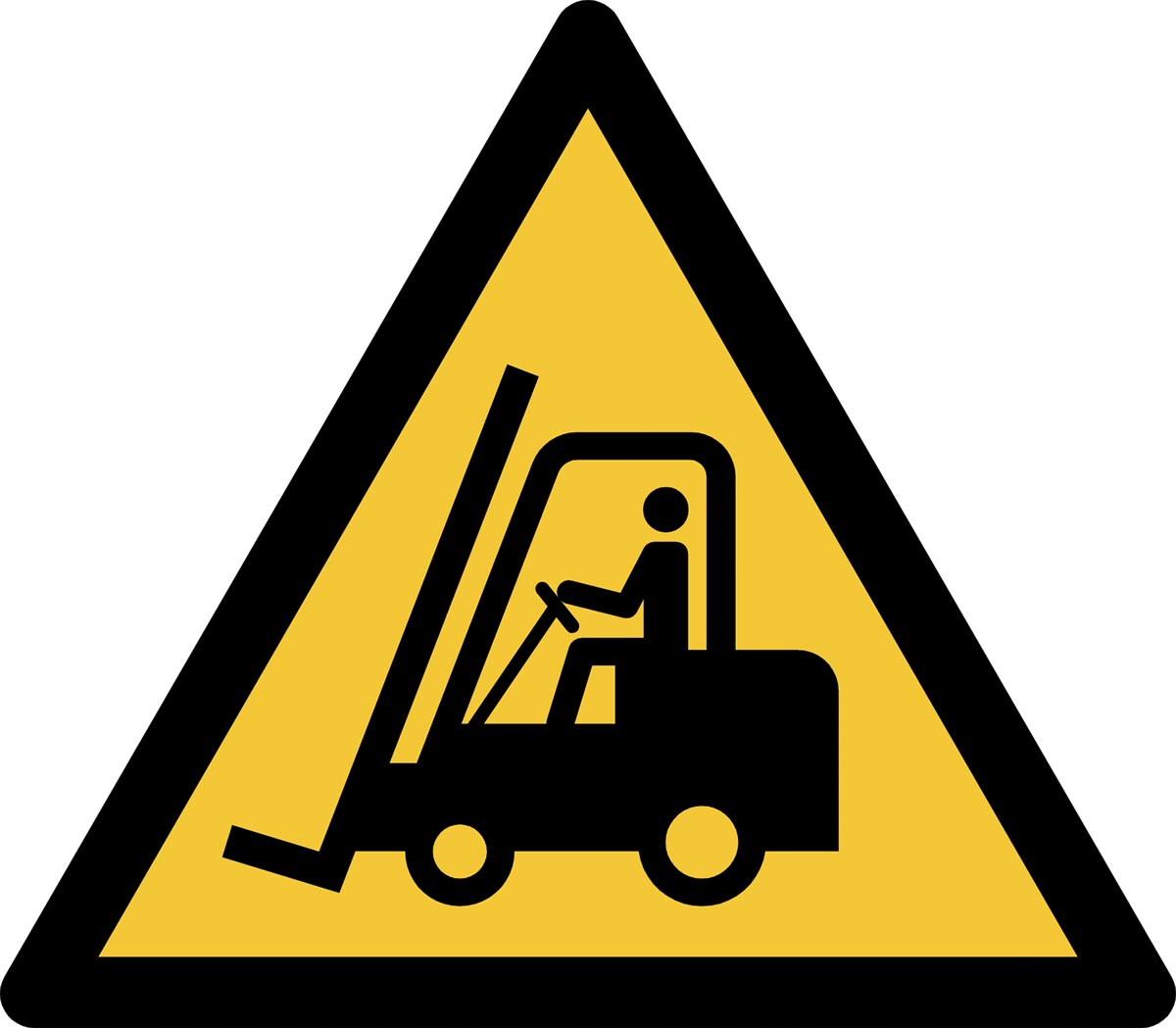 Tarifold waarschuwingsbord uit PP, transportvoertuigen, ft 20 x 17,6 cm