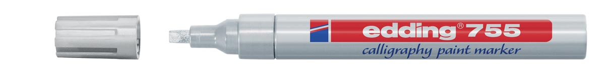 Edding E7551 Kalligrafie marker 1 4 mm Zilver 10 Stuks