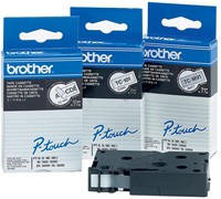 Brother TC tape voor P-Touch 12 mm, zwart op transparant-2