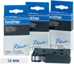 Brother TC tape voor P-Touch 12 mm, blauw op wit