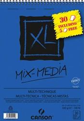Canson album XL Mix Media 300 g/m² ft A4, 25 + 5 vel gratis