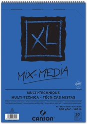 Canson album XL Mix Media 300 g/m² ft A3, 25 + 5 vel gratis