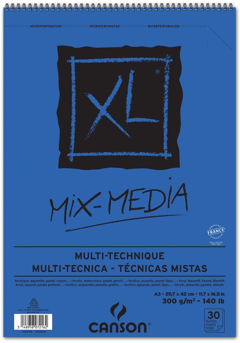 Canson album XL Mix Media 300 g/m² ft A3, 25 + 5 vel gratis