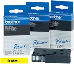 Brother TC tape voor P-Touch 9 mm, zwart op geel