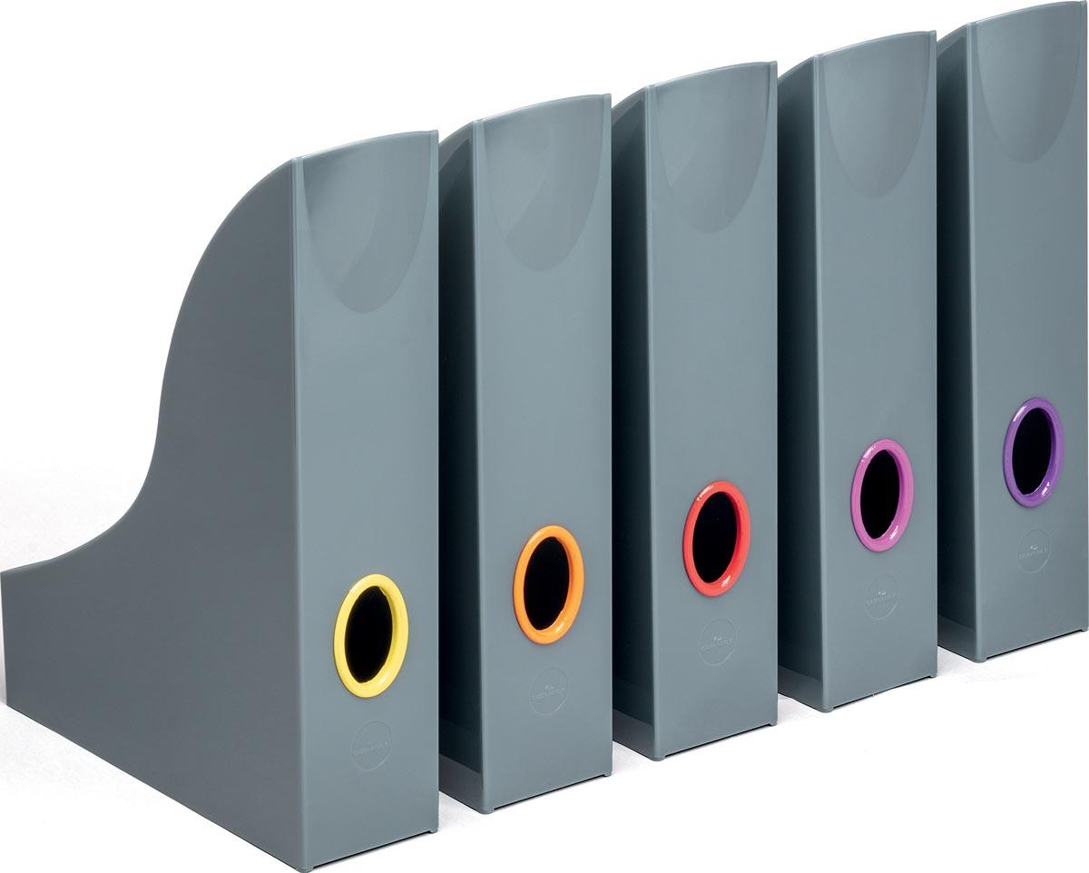 Varicolor tijdschriftenhouder, set van 5 geassorteerde kleuren