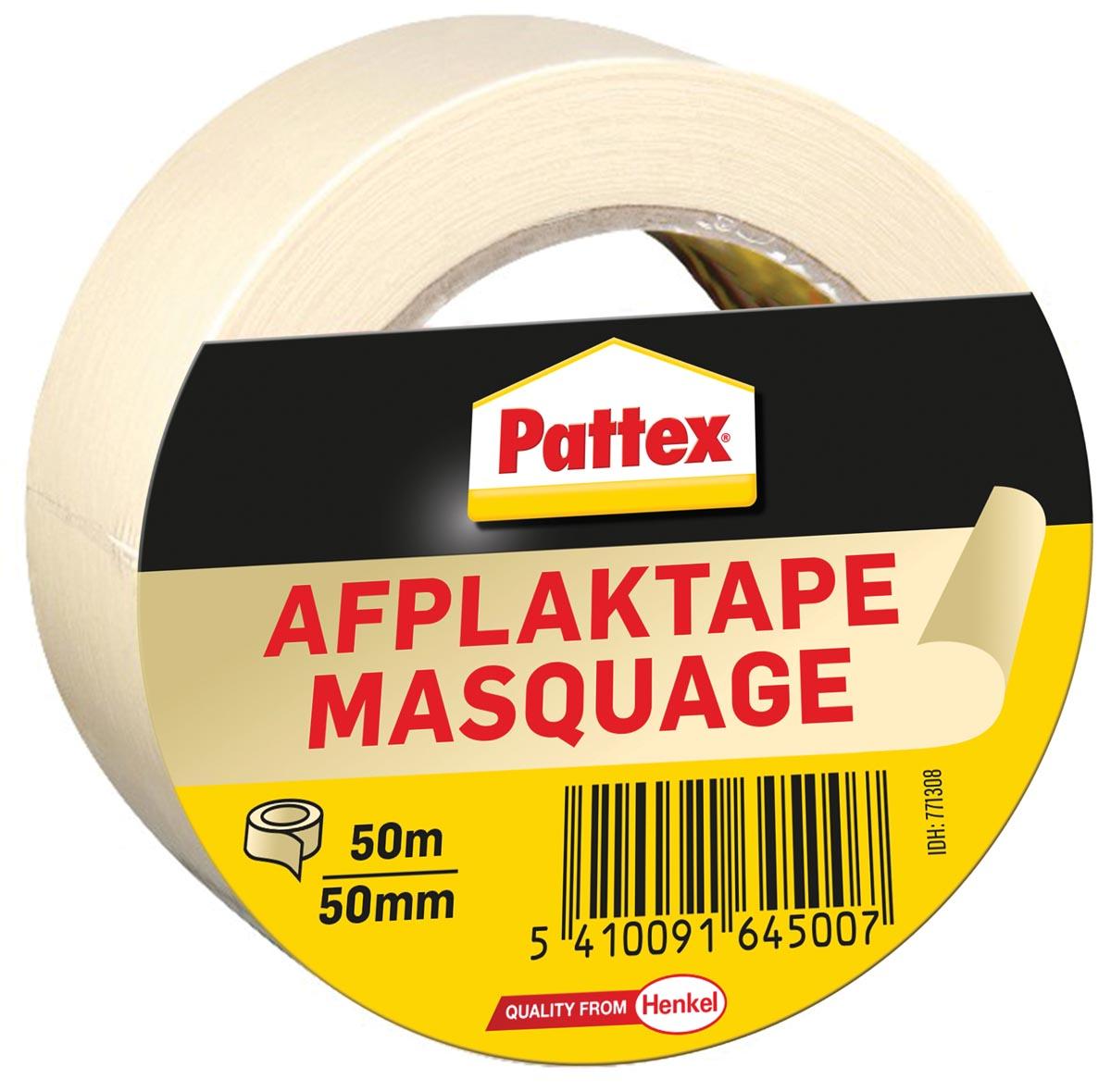 Pattex afplaktape, lengte 50 m, breedte 50 mm