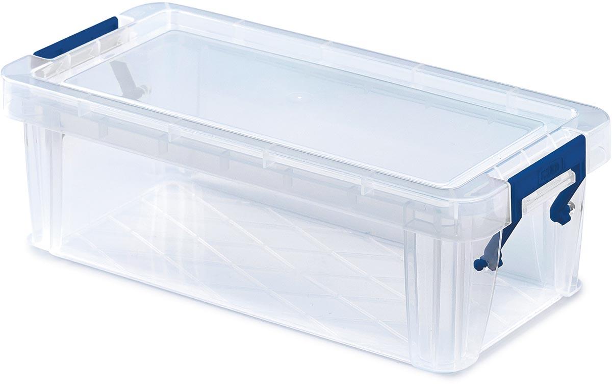 Bankers Box opbergdoos voor potloden ProStore 1,3 liter, transparant, large
