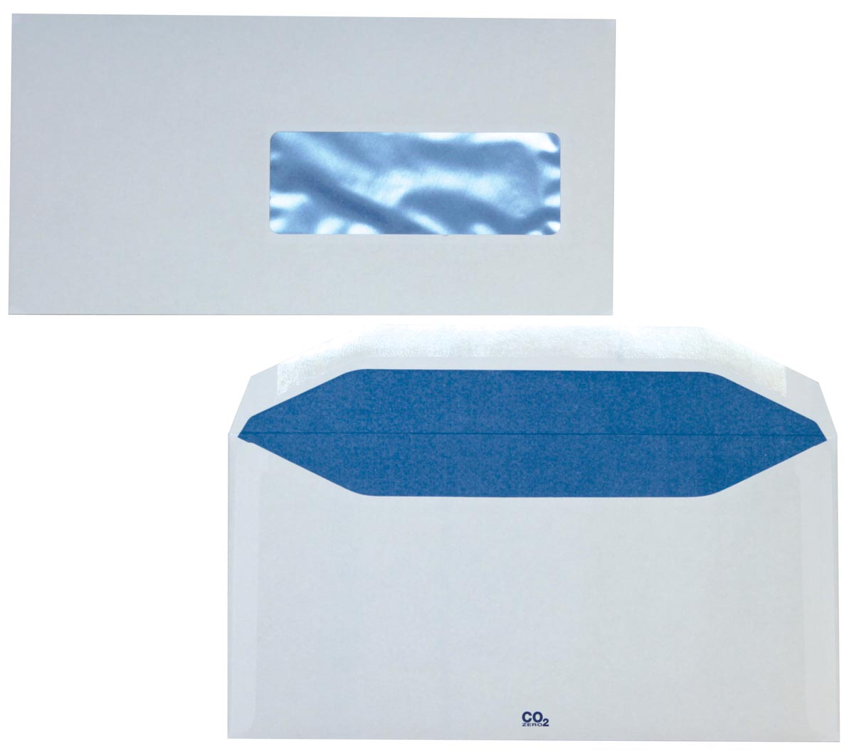 Enveloppen ft 114 x 229 mm gegomd, venster rechts (ft 40 x 110 mm), 500 stuks