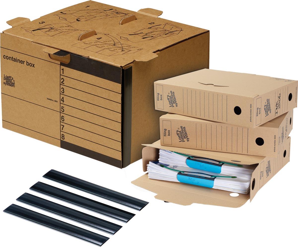 Loeff's archiefdoos standaard Starterkit, golfkarton, bruin
