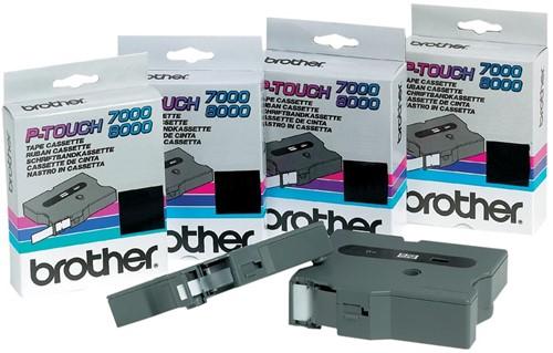 Brother TX tape voor P-Touch 12 mm, zwart op wit