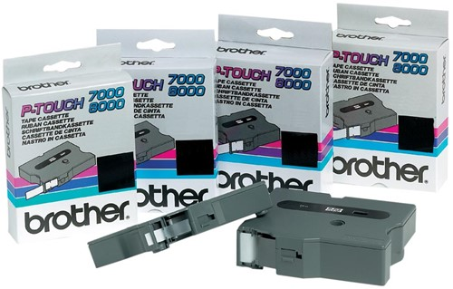 Brother TX tape voor P-Touch 18 mm, zwart op wit