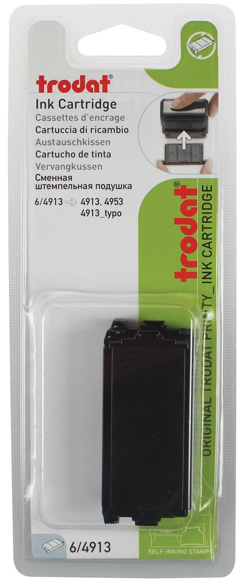 Trodat vervangkussen zwart, voor stempel 4913, blister met 2 stuks