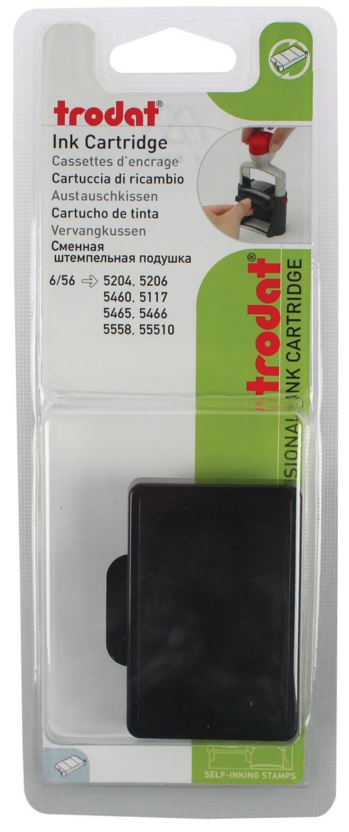 Trodat vervangkussen zwart, voor stempel 5460/5460L/5204/5206/5117, blister met 2 stuks