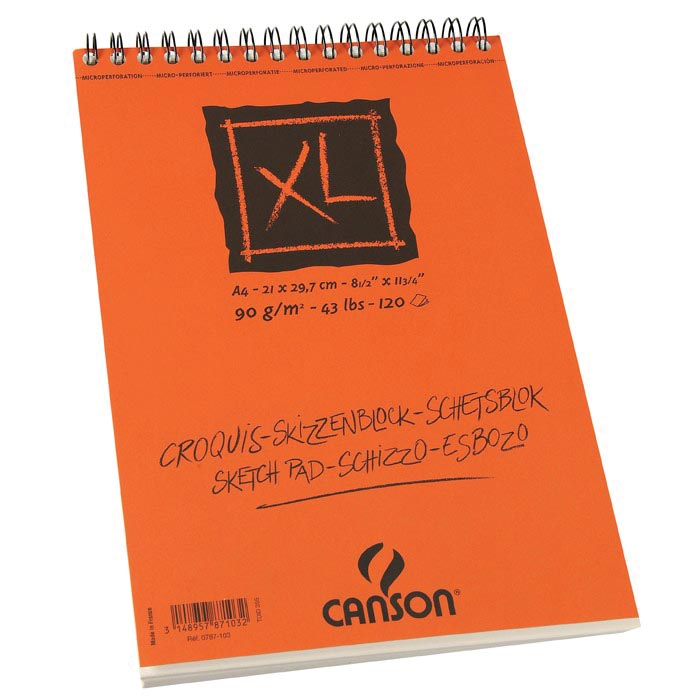Canson schetsblok XL ft 21 x 29,7 cm (A4), blok van 120 blad