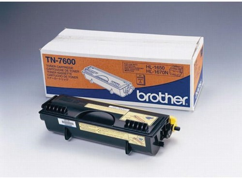 Brother toner, 6.500 pagina's, OEM TN-7600, zwart