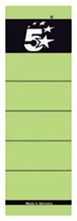 5 Star rugetiketten 8 cm, kort, groen, pak van 10