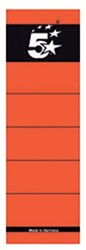 5 Star rugetiketten 8 cm, kort, rood, pak van 10