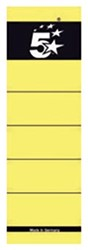5 Star rugetiketten 8 cm, kort, geel, pak van 10