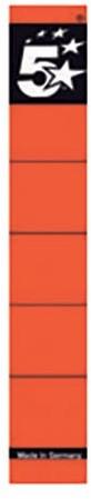 STAR rugetiketten 5 cm, kort, rood, pak van 10