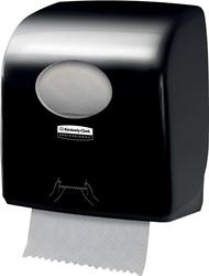 Kimberly Clark handdoelroldispenser Aquarius, voor navullingen Slimrol, kleur: zwart