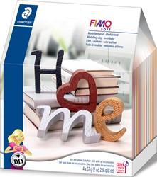 Staedtler Fimo Soft boetseerpasta Home Deco DIY set, letters