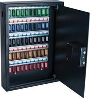 Sleutelkast, voor 50 sleutelhangers, ft 10 x 40 x 55 cm, zwart-2