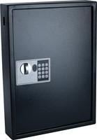 Sleutelkast, voor 50 sleutelhangers, ft 10 x 40 x 55 cm, zwart