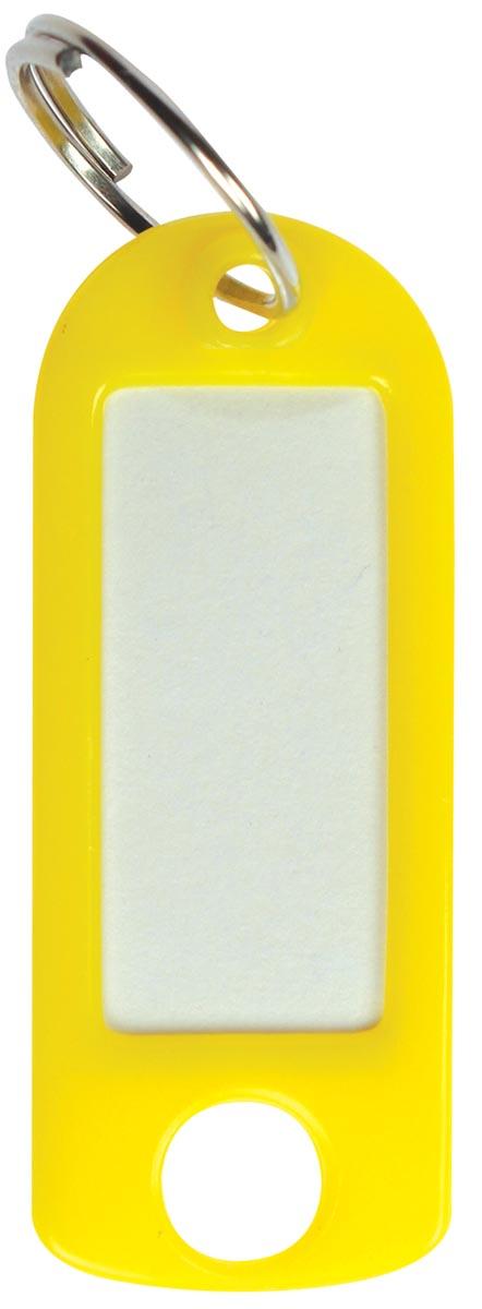 Sleutelhanger geel, doos van 100 stuks