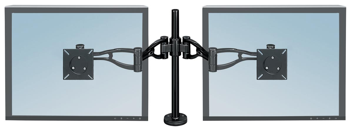 Fellowes Professional Series monitorarm, voor 2 schermen