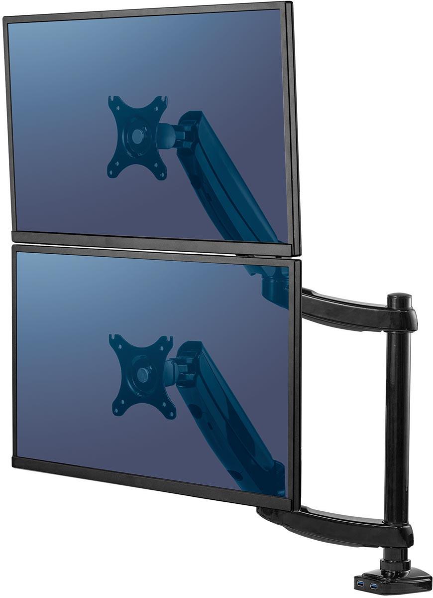 Fellowes Platinum Series Monitorarm Dubbel verticaal