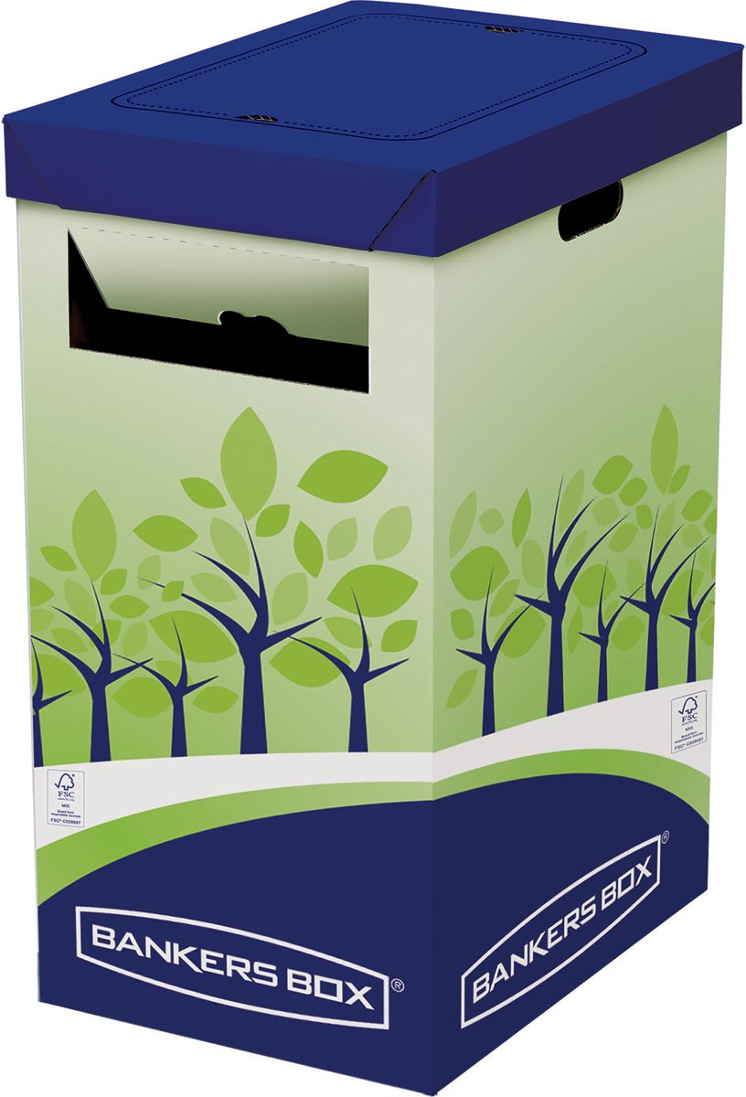 Bankers Box Hoge prullenbak, FSC gecertificeerd karton