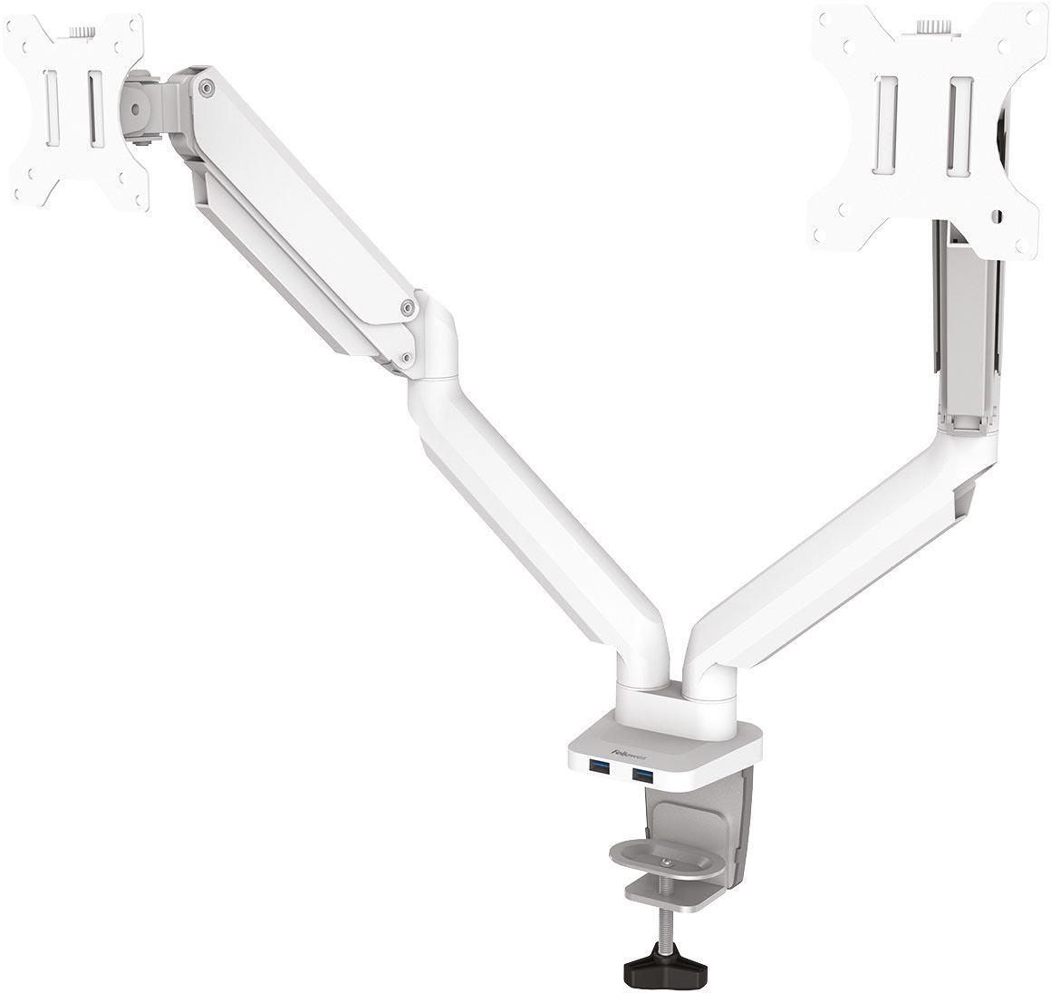 Fellowes Platinum Series monitorarm dubbel, horizontaal, wit